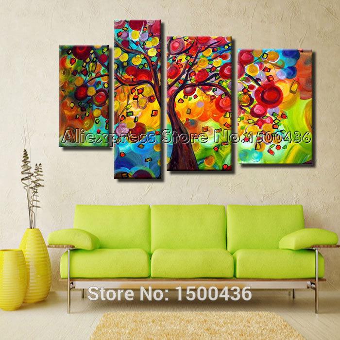 Compra coloridas pinturas abstractas online al por mayor - Pinturas para salones modernos ...
