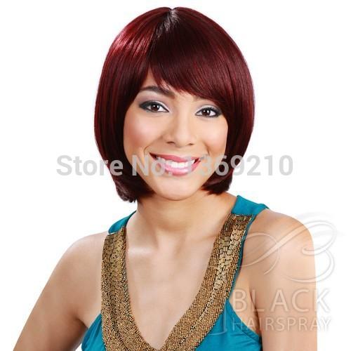 Burgundy Hair with Short Bob Haircut