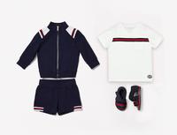 New Fashion Baby Boy 3pcs Clothing Sets Casual Sports Jackets Coat+Short Sleeve Tee Shirt +Cotton Shorts Children Summer Wear