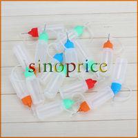50pcs 10ml Squeezable Dropper Bottle Eye Liquid Drop Needle Tip Random Color Free Shipping
