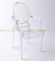 1/6 Barbie Doll Transparent Plastic Mini Arm Chair Dollhouse Miniature