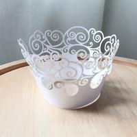 Free shipping 36pcs laser cut cup cake wrap cake decoration cake wrapper