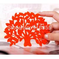 free shipping Creative home Korean cute felt coasters tree shape heat pad mat wholesale #5122
