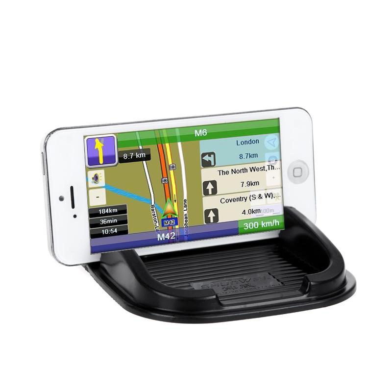 Многофункциональный резина Антипробуксовочная приборной панели автомобиля нескользящая мат магия важная Pad для iPhone PDA MP3 / 4 черный