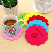 free shipping Creative cartoon color temperature non-woven felt coaster bowl pad insulation pad placemat #5124