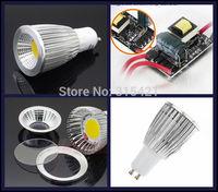 50Pcs/lot Super Bright GU 10 Bulbs Light Dimmable Led Warm/White 85-265V 9W GU10 COB LED lamp light GU10 led Spotlight L26