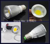 50Pcs/lot E27 Base 9W COB Dimmable LED Spotlight bulb Warm White/Cool White AC/110V 220V LED Lighting L27