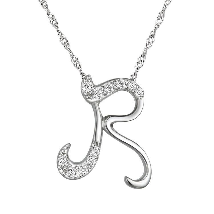 R Collier R pendentif collier