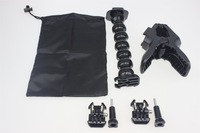 F07840-E Flex Extension Set: Fast Clip Release Clamp + Arm + Buckle Screw Mount + Storage Bag For Strap Gopro Hero4 3plus 3 2 FS