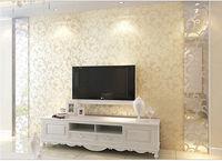 3D Glitter Decal WallPaper Roll Non-woven Stick Wallpaper Bedroom Wallpaper New