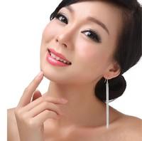 High Quality Elegant Gold Plated Long Tassels Snake Shape Earrings For Women Free Shipping 55mm