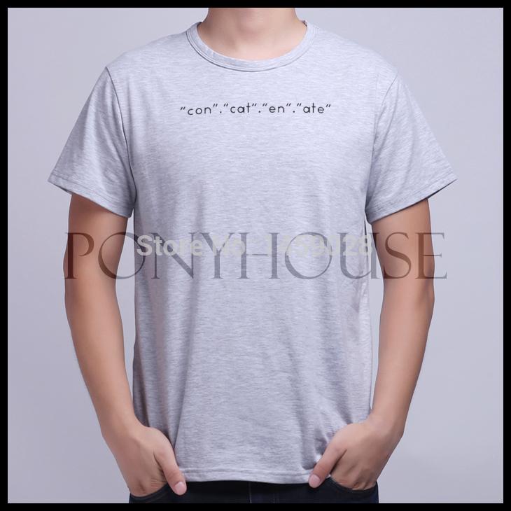 EVA CODER PROGRAMMER PHP GEEK A COOL t shirt men new high quality T-shirt(China (Mainland))