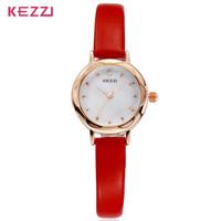 Luxury Brand Women Dress Rhinestone Shell surface Watches fashion casual quartz  Thin leather strap high quality wristwatches