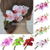 Hotsale 1pc Womens New Fashion Flower Hair Clip Hairpin Bridal Hawaii Party Hair Accessories Women Jewelry Headwear 8 Colors