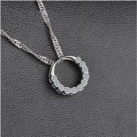 High Quality Fastness 30% Silver Shining Elegant Annular Zircon Pendant For Wedding Jewelry Free Shipping