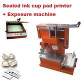 Pad printing business start up package kits: sealed ink cup pad printer + polymer plate cliche making kits