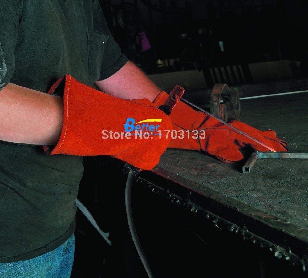Leather work gloves for welding - Leather Work Glove Welding Glove