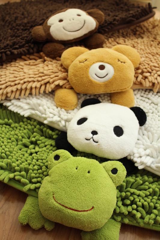 Alfombra Baño Antideslizante Infantil:-alfombras-para-niños-de-dibujos-animados-animales-patrón-alfombra