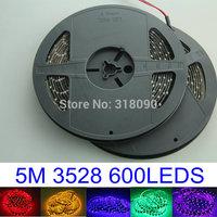 1Piece Led Strip Light 5M 500CM 3528 SMD 1210 LED Strips Lights 600 leds Waterproof Flexible 12V Decoration Home Led Car Led