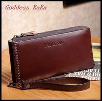 Casual  Men Wallet Genuine Leather carteira masculina Vintage Zipper Embossing  purses monederos Famous brand bolsas BG007