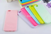 Candy Color Silicone TPU Gel Soft Cover Case For Apple iPhone 6 5.5 Rubber Material Soft Shockproof Phone Cases Bag