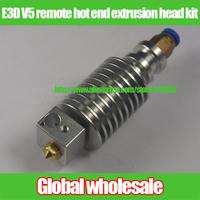 1kit 3D printer Reprap E3D V5 remote hot end extrusion head kit / E3D extrusion head + PTFE Teflon tube set for 1.75 mm filament