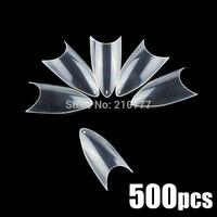 sharp ending Nail Art Tips, Acrylic Artificial, 500pcs