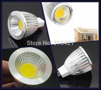50Pcs/lot LED COB spotlights MR16 7w COB Led Bulb High power White Warm/Cool White Led Light L25