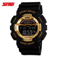 2015 Original SKMEI Unisex military sports watches LED Digital Multifunction Watch 50 m Waterproof Dive Swim wrist student 02-5