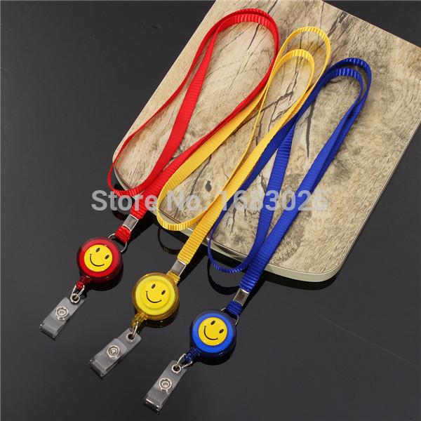 Retractable Lanyard Reel Nylon Cord for ID Card Key Badge Holder Christmas Gift ID Key Badge Holder(China (Mainland))