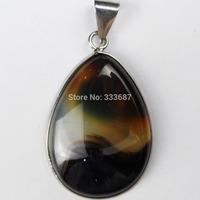 G0407 Free Shopping Beautiful Romantic Fashion Onyx Agate pendant bead 1pcs/lot