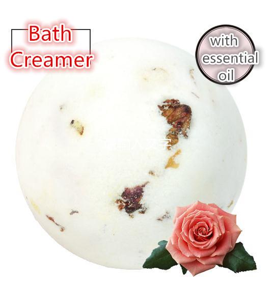 free shipping rose grape seed essential oil bath creamer spa skin care bath ball Whitening soothing fragrance Moisturizing(China (Mainland))