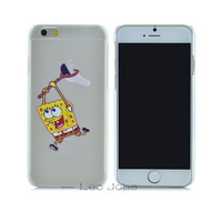 "Ultra-thin light slim Creative SpongeBob SquarePants pattern cartoon cover fashion logo phone case For iphone 6 4.7"" YC150"