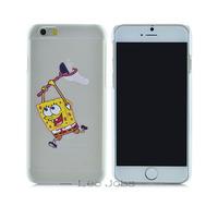 "Ultra-thin light slim Creative SpongeBob SquarePants pattern cartoon cover fashion logo phone case For iphone 6 4.7"" YC150"