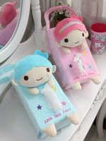 Plush toy 1pc creative sweet little twin stars vehicle tissue paper towel cover home decoration children stuffed gift for baby