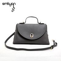 Smilyan fashion genuine leather orb tote hand bag women candy color composite shoulder bags casual bolsas high quality handbags