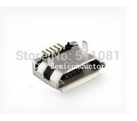 50pcs Micro USB 5P,5-pin Micro USB Jack,5Pins Micro USB Connector Tail Charging socket