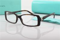 brand optical cat eye designer prescription eyeglasses women diamond luxury myopia  full rim frame eyewear spectacle frameTF2043