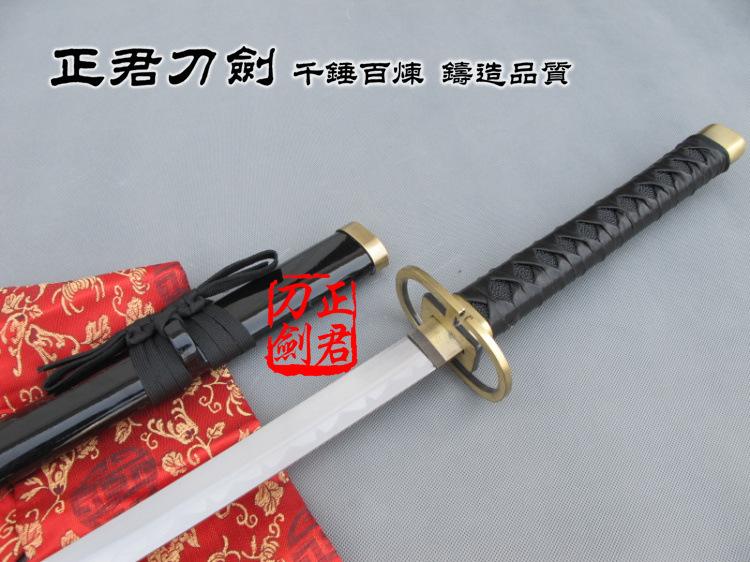 Cosplay anime katanas Urahara Kisuke Zanpakuto Sword Replica bleach sword ,metal craft,presonal hobby collection(China (Mainland))
