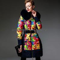 hot style! 2015 new rainbow colors Mirage Slim raccoon fur collar jacket