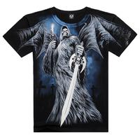 New style  Summer Men Clothing Creative 3D Printed On Shoulder Shirt, XXXL Casual Men's Wear Men T Shirt Free Shipping