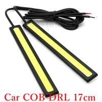 Car DRL 17cm Daytime Running Light COB LED Car White Color One Pair CL001