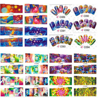 30 Sheets 2015 Beautiful Nail Art Stickers Transferable Watermark Nail Tips Manicure Wraps Decal Nail Decorations Tools#C084-107