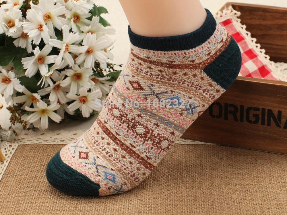 Bfy-5pairs / Lot женщины носки 100% хлопок богемия теплый носок народная стиль женские носки женские весна осень зима носки