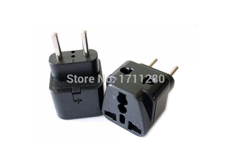 New Universal AU US UK EU BRAZIL ITALY Switzerland Swedish AC Power Plug Travel Converter Adapter(China (Mainland))