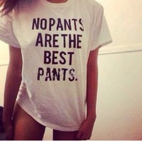 Hip Hop Women Tops Fashion 2015 NO PARENTS ARE THE BEST PANTS Funny Maternity Shirts Plus Size Matching Couple Shirts S-3XL