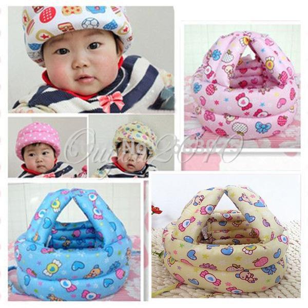 New Baby Kids Walking Safety Helmet Headguard Head Protector Hats No Bumps Adjustable Warm Caps Hats(China (Mainland))
