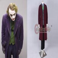Free Shipping Customized Batman The Dark Knight Rise Joker Cosplay Cosutme Movie Cosplay Costume