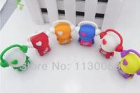 Promotion game memory card earphone little man lanyard key ring U disk memory card 32GB - 4GB pen drive usb S247