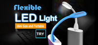 Free Shipping USB LED Night Light Portable and Mini Size 5 Color Powered by Power Bank or AC Adapter 12V Soft Light Protect Eyes